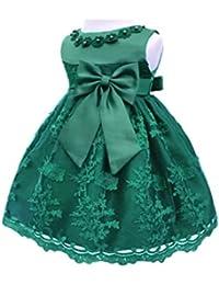 Baby Girls Newborn Bowknot Gauze Christening Baptism Dress Infant Flower Girls Wedding Dresses 13 Color