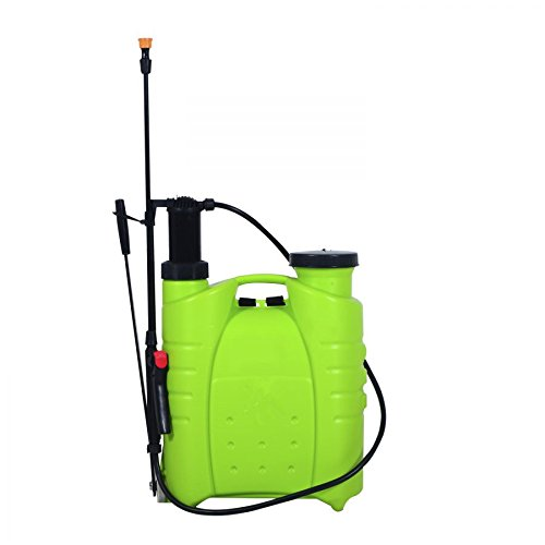MRT SUPPLY 4 Gallon Manual Hand-Pumped Backpack Sprayer - Green with Ebook by MRT SUPPLY
