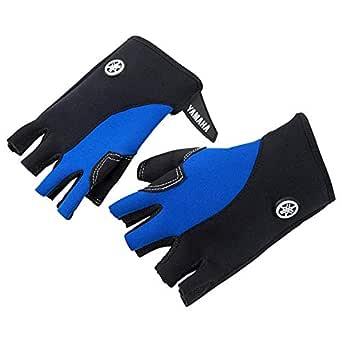 Yamaha Unisex 3/4 Finger Gloves, Blue