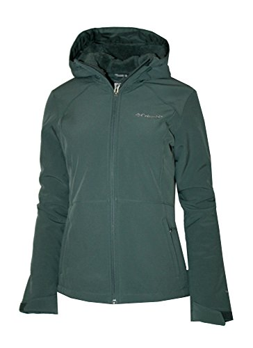 Columbia Womens Alpine Fir Windproof Fleece Lined Softshell Hooded Jacket,Pond (Small)