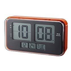 Idea International: Bruno Retro Digital Flip Clock Large - Orange