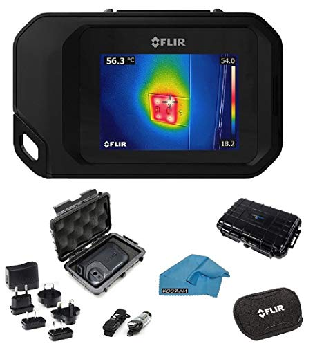 FLIR C2 Compact Thermal Imaging System Bundle with Rugged Waterproof Case and Micro Fiber Cleaning Cloth ()