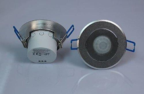 2 x giratorio para empotrar en techos sensor de movimiento 360° aluminio infrarrojos 6 m