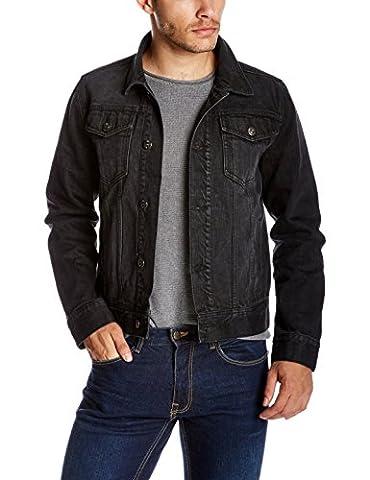 Quality Durables Co. Men's Regular-Fit Jean Jacket XL Black - Co Black Denim