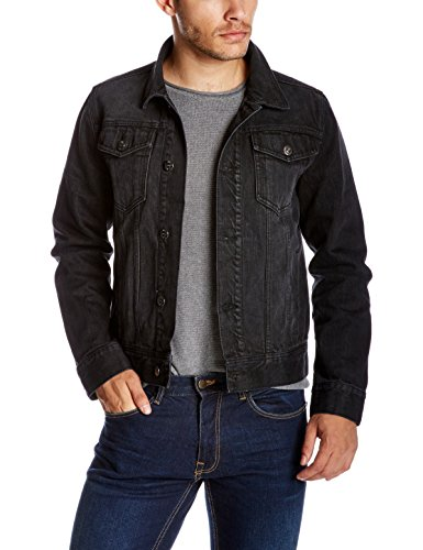 Quality Durables Co. Men's Regular Fit Jean Jacket 2XL Black by Quality Durables Co.