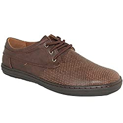 SHOE ARTISTS Brown Comfort Leather Lined Casual Lace Ups, Size 7-5