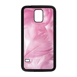 Diy Colorful Feather Phone Case for samsung galaxy s5 Black Shell Phone JFLIFE(TM) [Pattern-2] Kimberly Kurzendoerfer
