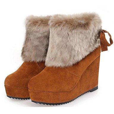 de Botas nieve Moda Zapatos Mujer de SHAOYE Botas Botas Tac Invierno de Cuero Napa fRnAxqa