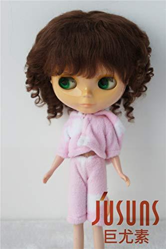Brown Mohair Light (Doll Wigs JD012 Sophia Baby Wave Mohair BJD Doll Wigs (Light Brown, 10-11inch))
