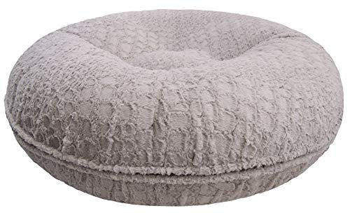Cheap Bessie and Barnie Signature Serenity Grey Extra Plush Faux Fur Bagel Pet / Dog Bed (Multiple Sizes)