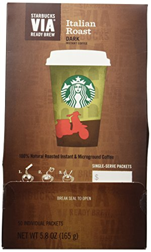 Starbucks VIA® On the verge of Brew Italian Roast Coffee (50 count)