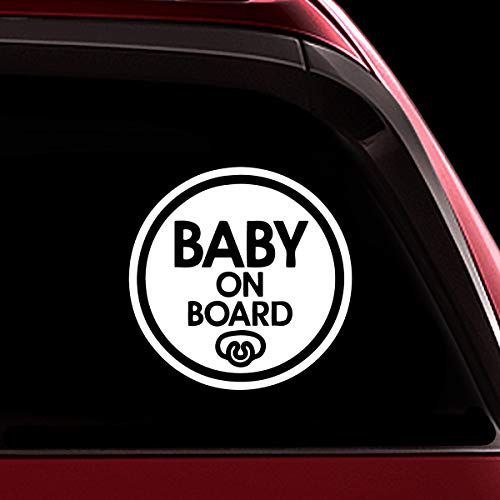 TOTOMO Baby on Board Sticker - Safety Caution Decal Sign Stickers for Cars Windows Bumpers - Baby Pacifier ALI-023