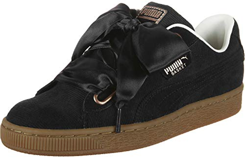 Heart Basket Wn Puma Sneaker Noir Patent Women's wv40xwpqfz