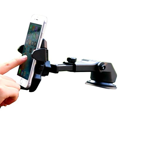 One hand,iBarbe Car Mount Universal Phone Holder Windshield Mount/Dashboard Bracket with Adjustable Arm for iPhone X 8/8 Plus 7 7 Plus 6s Plus 6s 6,Galaxy S9 S9plus,S8 Plus S8 Edge S7 S6,more -Black (Inch Prices Tempered 1 Glass 4)