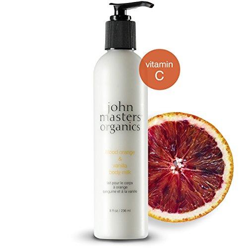 John Masters Organics - Blood Orange & Vanilla Body Milk - Light Body Lotion to Hydrate, Moisturize & Soothe Skin with Coconut Oil, Aloe Vera & Vitamin C for All -