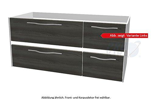 PELIPAL SOLITAIRE 6010 Waschtischunterschrank inkl. LED / WTUSLB 02/03 / Comfort N / 112x51,2x49,3cm