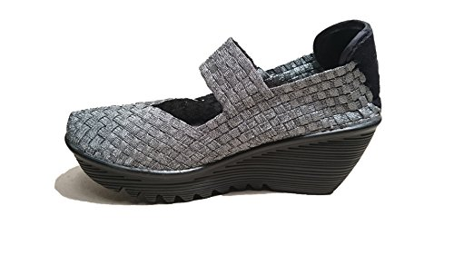 Bernie Mev. Damen Sneaker Silber Silber/Schwarz