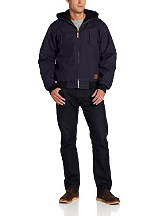 Berne Men's Big-Tall Original Hooded Jacket, Navy, 5X-Large/Tall