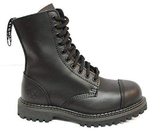 Cap Combat Style Oeillets Bottes Toe Et Noir Originale Des De Avec 10 Militaire Grinders D'acier OxqwZ1A