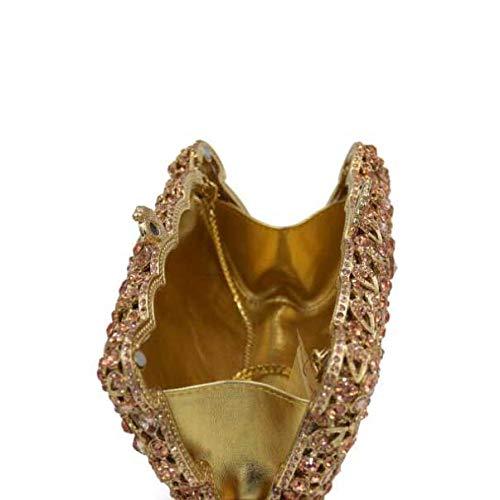 De Sac Luxe Diamant Diamant Femelle à Dîner Gold De Paquet Main De 0qTawa