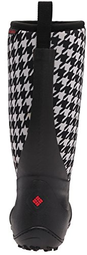 Columbia Women's Snowpow Tall Print Omni-Heat Snow Boot, Black/Burnt Henna, 8 B US