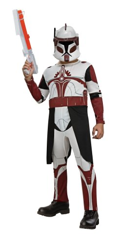 Star Wars Clone Wars Clone Trooper Child's Commander Fox Costume, Medium - Boys Fox Costumes