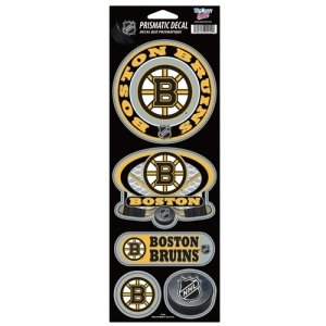 WinCraft NHL Boston Bruins Prismatic Stickers, Team Color, One Size (Bruins Decals Boston)