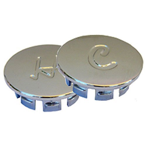 LASCO 0-6041 Metal Windsor Hot and Cold Buttons for Price Pfister Brand