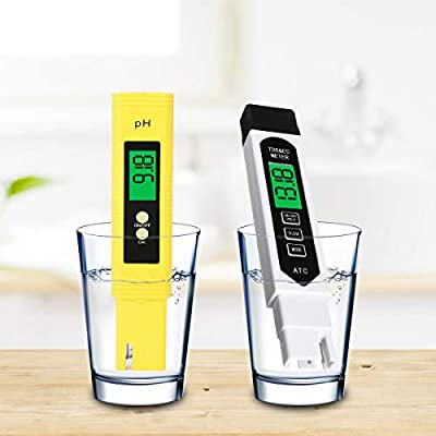 Water Quality Test Meter, LIUMY TDS PH 2 in 1 kit, 0~9990 PPM, EC and Temperature Measurement; 0.01ph High Accuracy with 0-14 PH Measurement Range, Measure for Drinking Water, Wine, Spas, Aquariums
