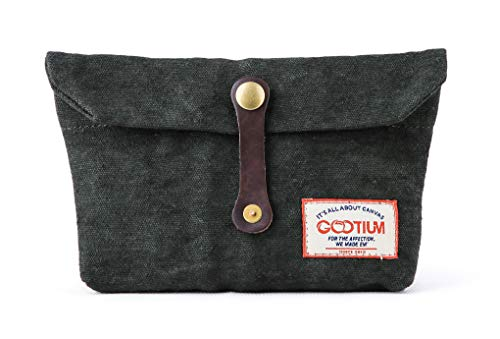 Gootium Envelope Clutch - Handmade Pouch Small Purse Makeup Hand Bag Accessory Organizer Tools Holder, Army Green