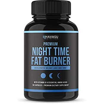Night Time Weight Loss Pills with Premium Vitamin D, Green Coffee Bean Extract, White Kidney Bean Extract, L-Theanine, L-Tryptophan, Melatonin- Non Habit ...