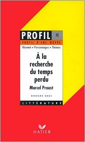 A La Recherche Du Temps Perdu Pdf