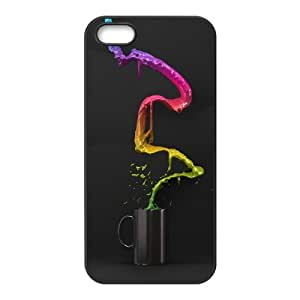 Okaycosama Funny IPhone 5,5S Cases Abstract 52 for Guys, Cute Iphone 5s Cases for Teen Girls, {Black}