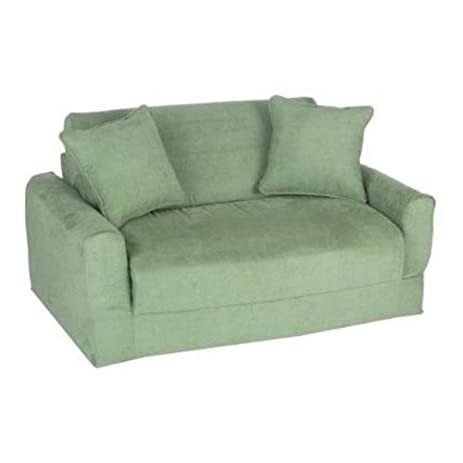 Amazon Fun Furnishings Sofa Sleeper Green Micro Suede