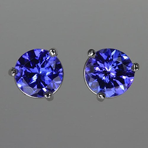 Tanzanite Earrings in White Gold 1.33 Carats