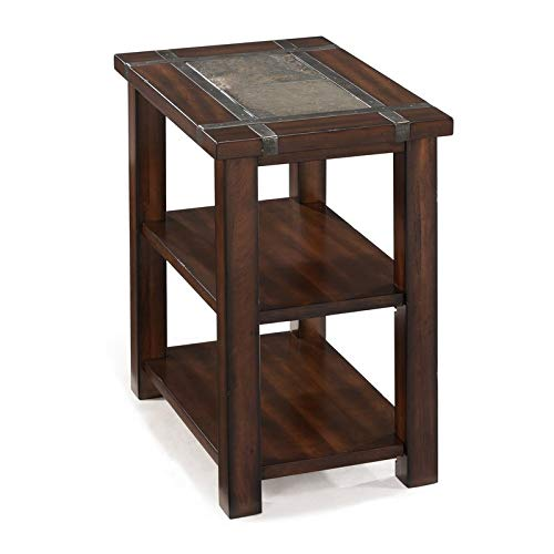 End Table with Slate Insert Top - Wood End Table - Cherry