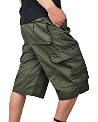 XueYin® Men's Fashion Cargo Shorts Plus Size (Army green,30 size)