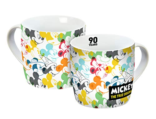 - Disney Mickey Mouse 12055 Disney Mickey 90 Years Transparent Mug, Porcelain Cup, Coffee Cup, Porcelain, Multicoloured