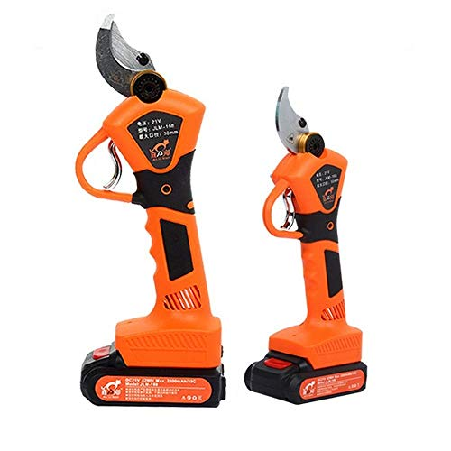 Electric Pruning Shears, Professional Electric Branch Cutter Scissors 21V Li-ion Battery 30mm Cordless Garden Pruning Shears Fruit Tree Orchard Grapevine Economical Sharp Cutting Tool Orange in USA