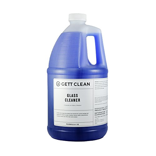 (GETT CLEAN Glass Cleaner Refill 1 Gallon, Ready to Use, Professional Strength)