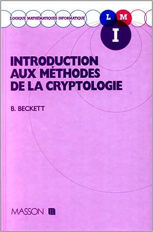 En ligne Introduction aux méthodes de la cryptologie pdf epub