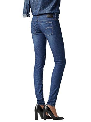 STAR G Femme Aged Low RAW Dk Skinny 3301 Blau WMN Jeans 89 Skinny SdZAB4qZnx