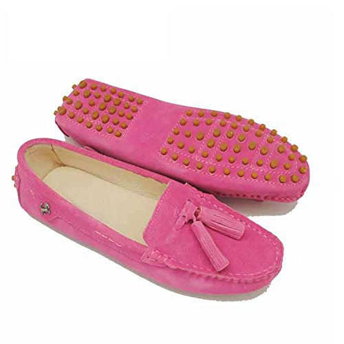 Ladies Scamosciata Mocassini Rose Slip Stringate In on Scarpe Pelle Casual Girsl Flats Nappe Minitou 5Ywqpa5