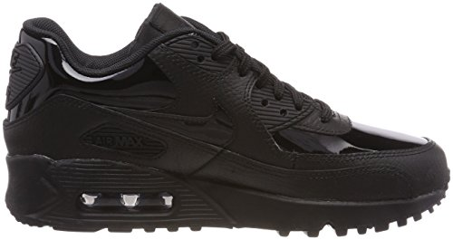 Nike Wmns Air Max 90 Sneakers Fashion Lifestyle In Pelle Nuovo Nero / Nero / Nero