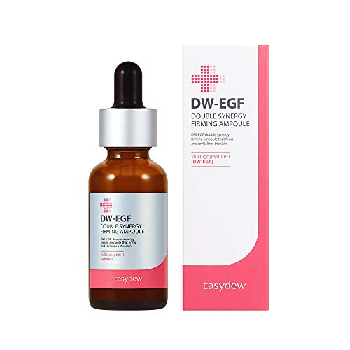 Easydew DW-EGF Double Synergy Firming Ampoule 1.01 fl oz - Award-Winning Anti Aging Ampoule with Human Epidermal Growth Factor - Naturally Produce Collagen to Rejuvenate & Regenerate Cells