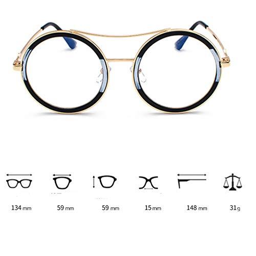 White Goggles UV flat Eyeglasses Frame Holiday Black Men C7 Protection Literary Sunglasses Round Eyewear Border Light Fauhsto Sunglasses Driving Travel for Ocean Women Film Piece Shopping Outdoor Metal xT4gwvAHq