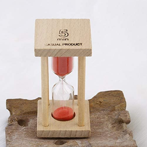 Wooden Hourglass Sandglass Sand Clock Timer for Kids Brushing 1//5minutes