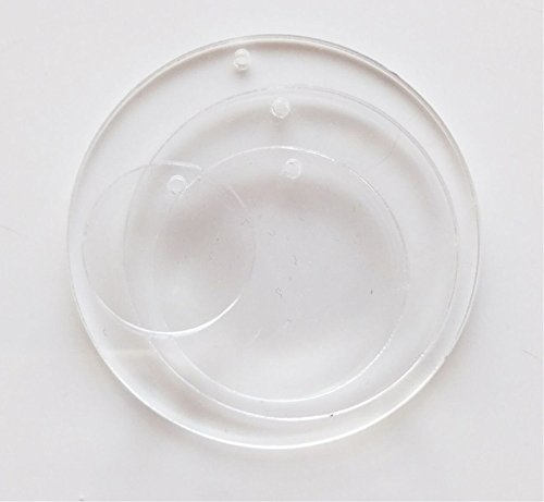 MEYA Set of 20pcs Clear Acrylic Discs Dia 4.5 Plexiglass Laser Cut Round Circle 1//8