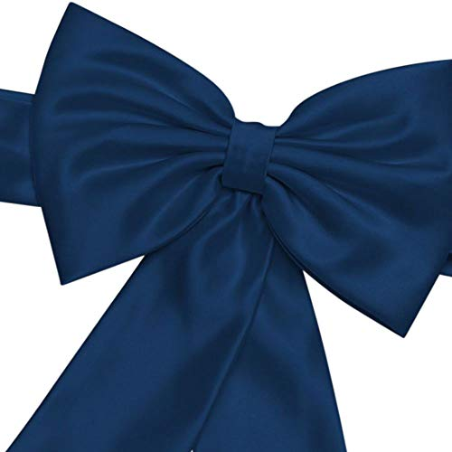 David's Bridal Satin Flower Girl Sash with Back Bow Style S1041, Marine from David's Bridal