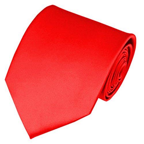AimTrend Men's Neckties Elegant-Red